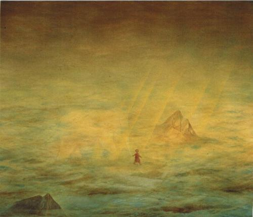 Francois Malespine Ballade à Ganesh  76cm x 77cm. 1991
