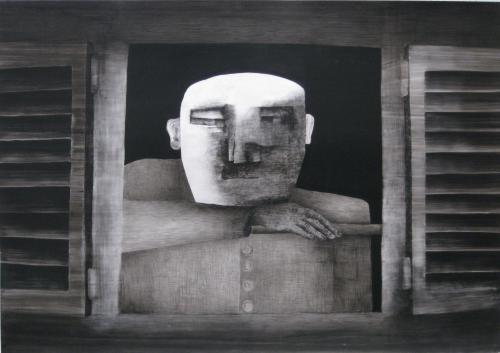 François Malespine Décembre 1977 n°2 «L'homme à la fenêtre»