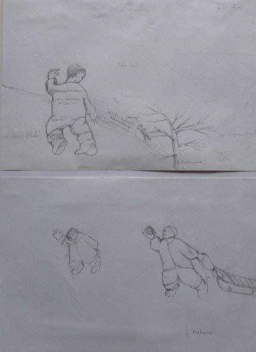 François Malespine dessins préparatoires 1 003