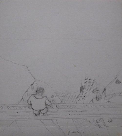 François Malespine dessins préparatoires 1 006