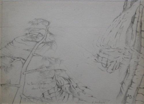 François Malespine dessins préparatoires 1 014