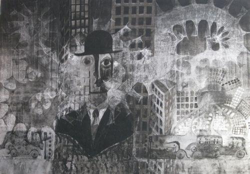 François Malespine Luminy ENCRES DE CHINE 12 (100 cm x 70 cm)