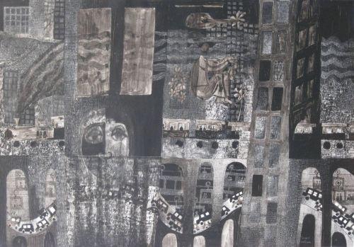 François Malespine Luminy ENCRES DE CHINE 2 (100 cm x 70 cm)