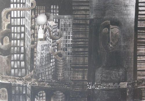 François Malespine Luminy ENCRES DE CHINE 5 (100 cm x 70 cm)
