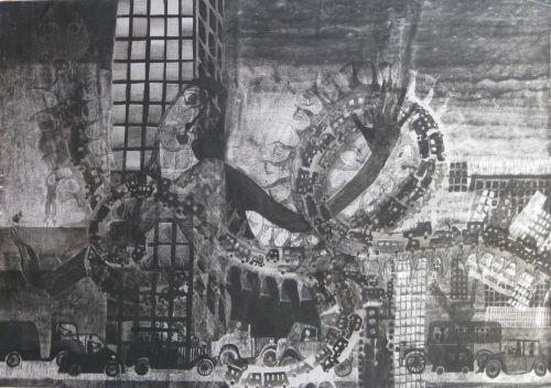François Malespine Luminy ENCRES DE CHINE 7 5(100 cm x 70 cm)