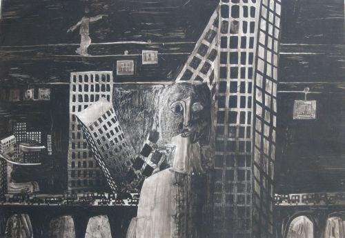François Malespine Luminy ENCRES DE CHINE 9 (100 cm x 70 cm)