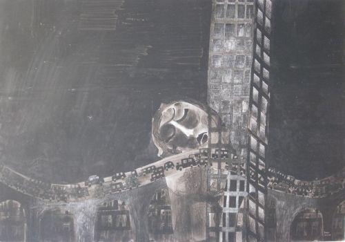 François Malespine Luminy ENCRES DE CHINE 11 (100 cm x 70 cm)