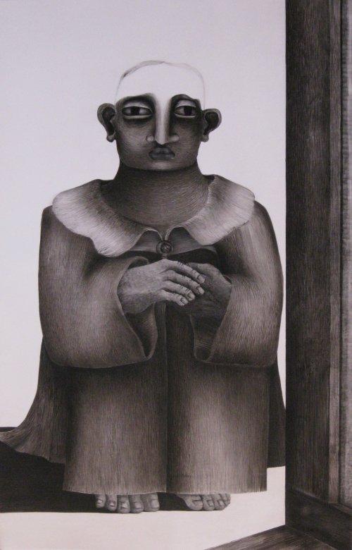 François Malespine encres et lying 1979 dimension 100cm x 61cm